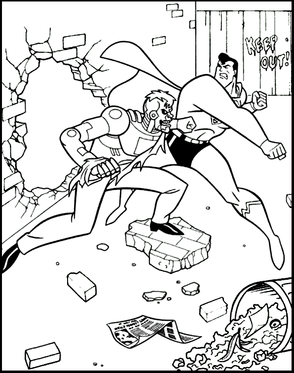 Superman Fighting With The Enemy Coloring Pages For Kids Gax Printable Superman Coloring Pages For Kids