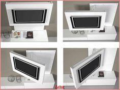 mobile porta tv orientabile - Cerca con Google   swivel tv stand ...