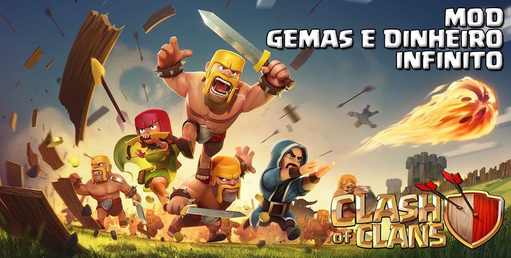 Clash Of Clans V7 200 19 Mod Apk Gemas E Dinheiro Infinito Clash Of Clans Clash Clash Of Clãs
