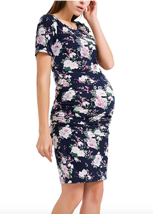 e094b62873b41 Every pregnant woman needs a floral maternity dress for the summer ...