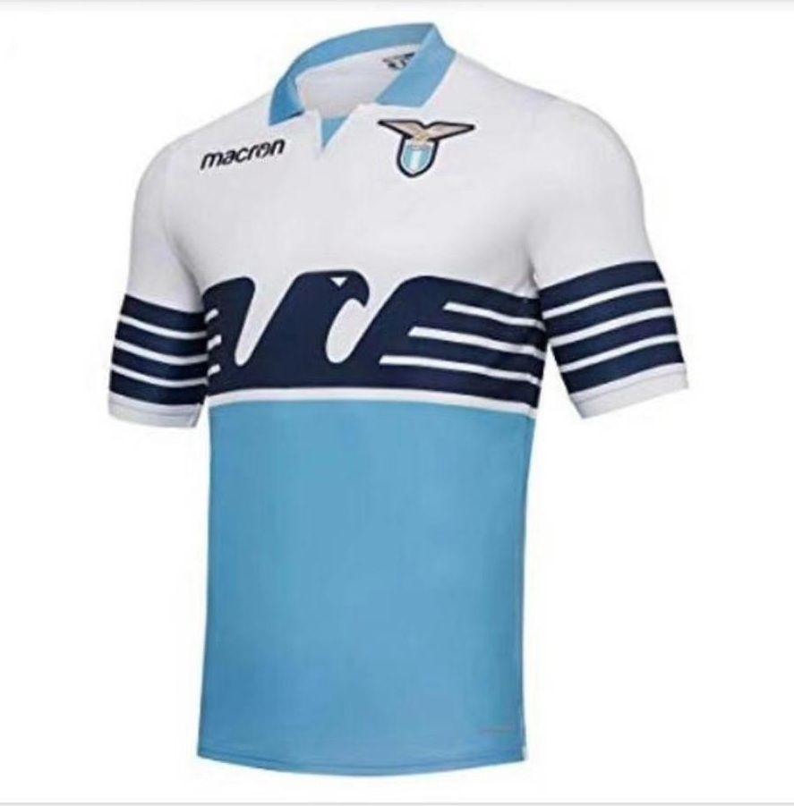 e2956fbfd 2018 19 Lazio Home Football Shirt Lazio White Blue Soccer Jersey ...