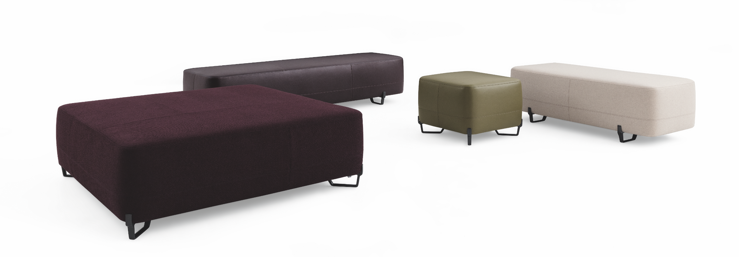 Poufs New York by Jean-Marie Massaud for Poliform #slaapkamer ...