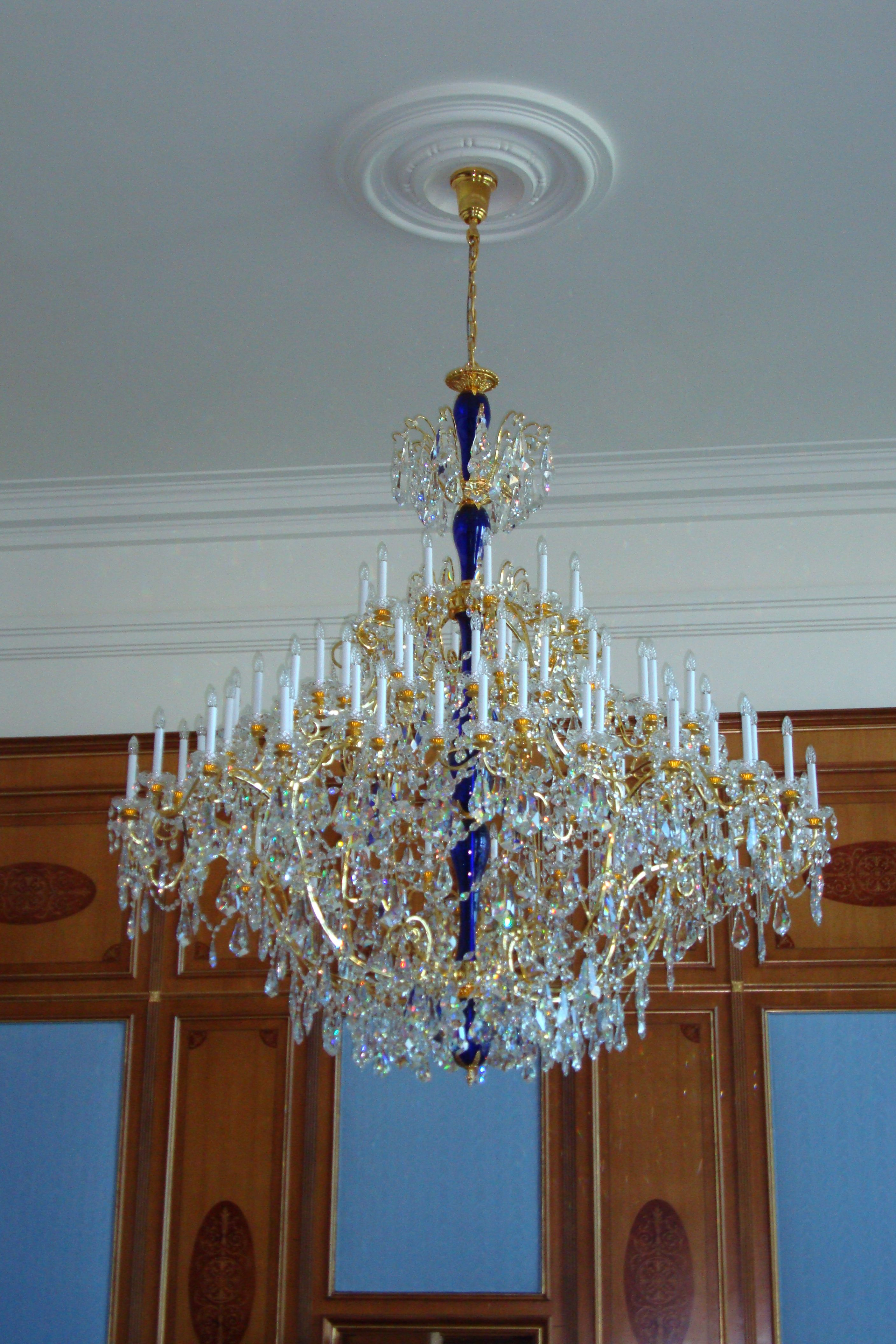 Beautiful crystal chandelier with sparkling Swarovski crystals