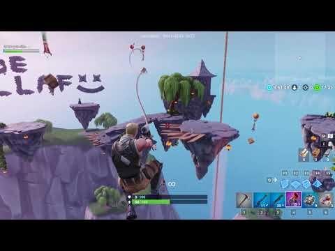 Fortnite Playing Creative Mode Sky Snipes V2 Using Grappling
