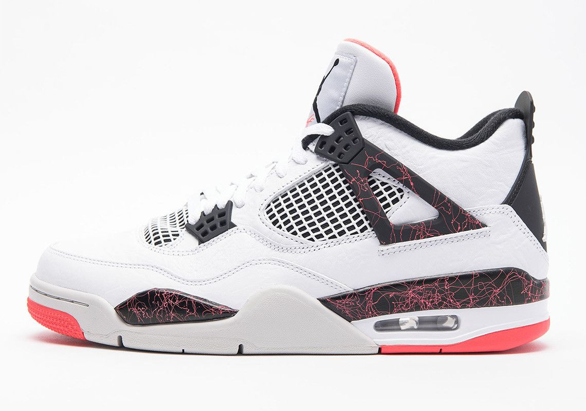 5d95ecefbd36 Air Jordan 4 Retro White Black Bright Crimson Pale Citron 308497-116   thatdope