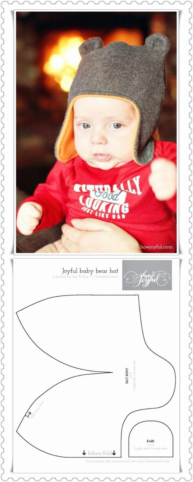 Pin de nubia del en ropa para isaí | Pinterest | Gorros, Bebé y Costura