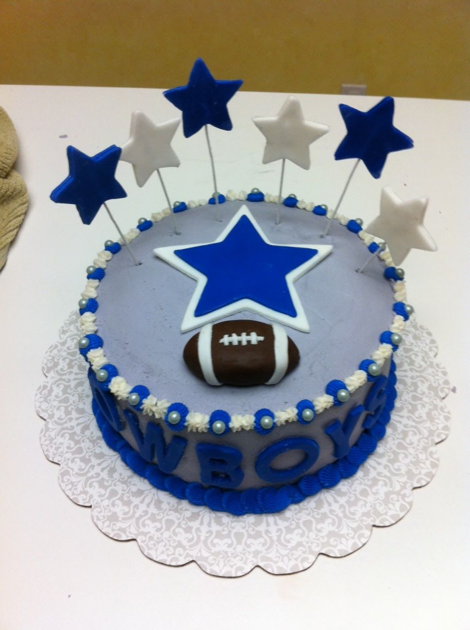 Dallas cowboys birthday cake ideas and designs - Cowboys Football Birthday Cakes Gingerly Created Confections Dallas Cowboys Cake