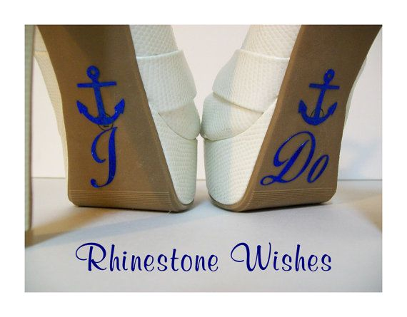 I Do Shoe Glitter Stickers With Anchor by RhinestoneWishes on Etsy, $6.99
