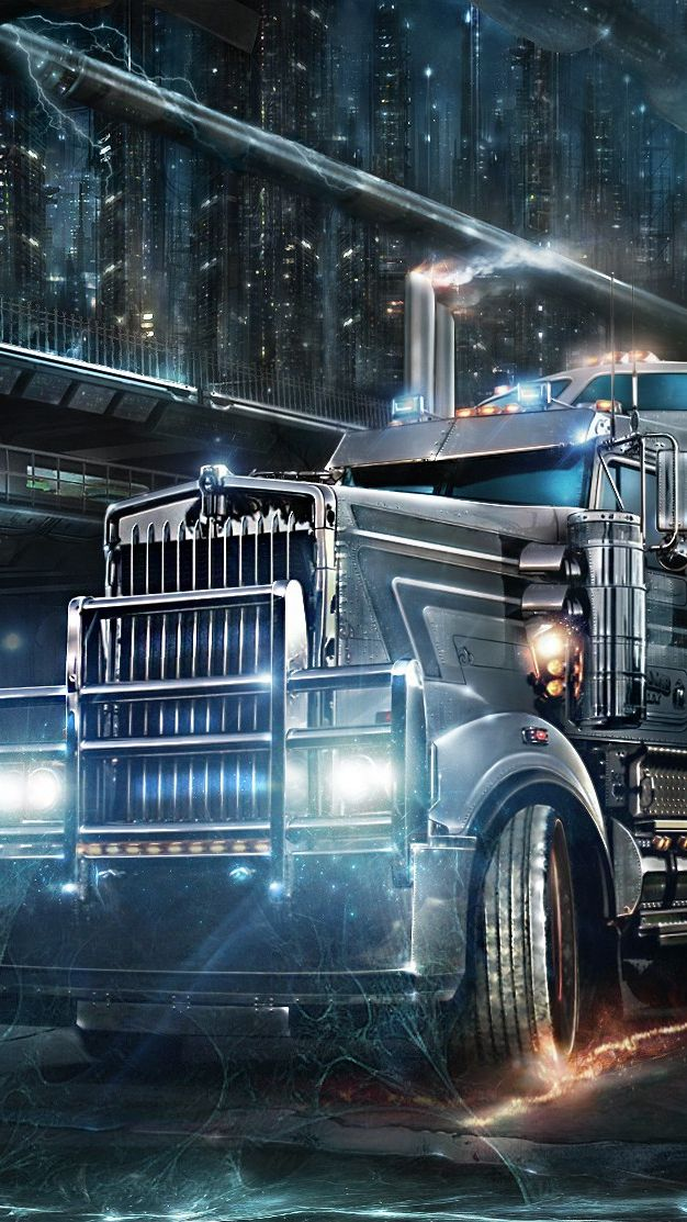 Road Train Heavy Truck Iphone Wallpaper With Images Android