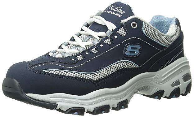 141e73404136 Skechers Sport Women s D Lites Memory Foam Lace-up Sneaker