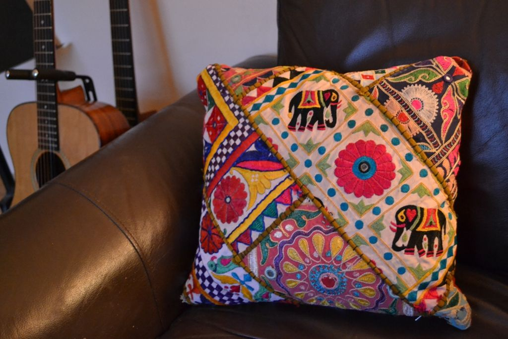 Multicolour Indian Zari Mirrow Work Antique Indian Patchwork Classy Personalised Pillow Covers India