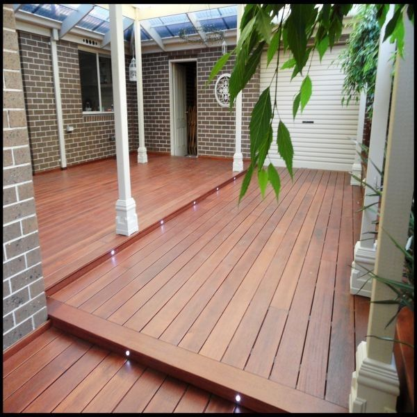 Merbau Decking Board With Smooth Surface Outdoors Garden