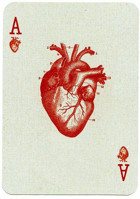 Imagen de heart, card, and ace #redaesthetic