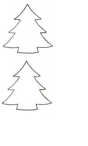 kerstboom sjabloon kerst knutselen kerst idee 235 n en