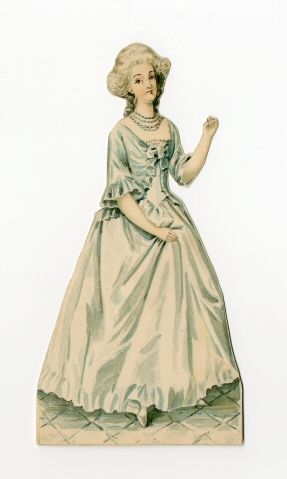 86.3095: Marie Antoinette | paper doll | Paper Dolls | Dolls | National Museum of Play Online Collections | The Strong