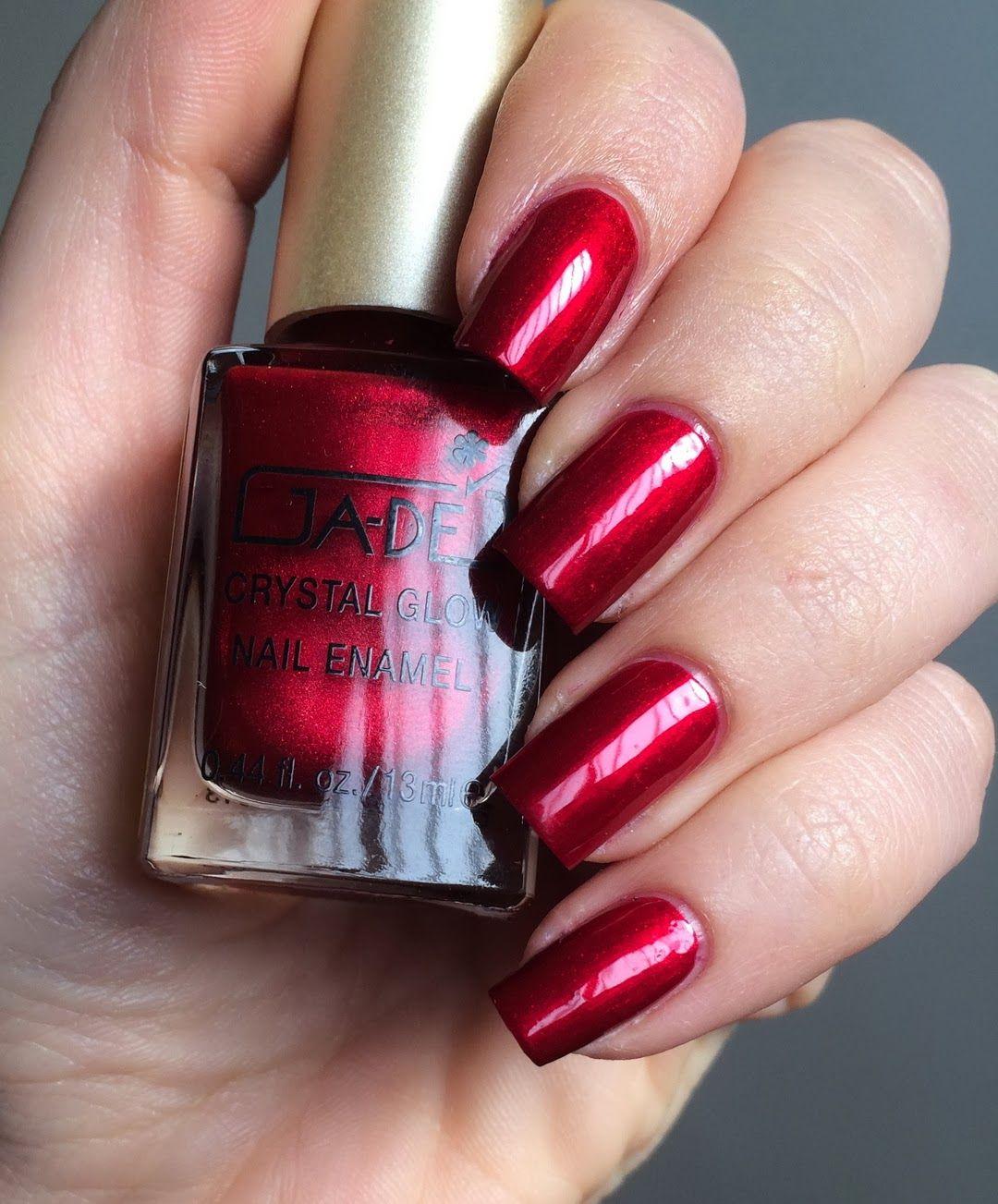 Emmi-Diana\'s nails: Gade - 808 Hypnotic red (*3, no top coat ...