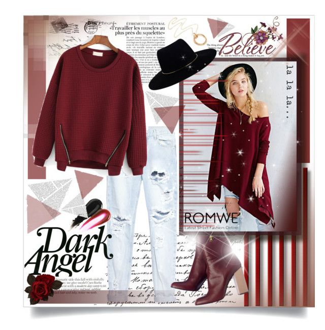 """♥Romwe zipper red sweatshirt♥"" by tinaisapenguin ❤ liked on Polyvore featuring Project Social T, One Teaspoon and Zimmermann"