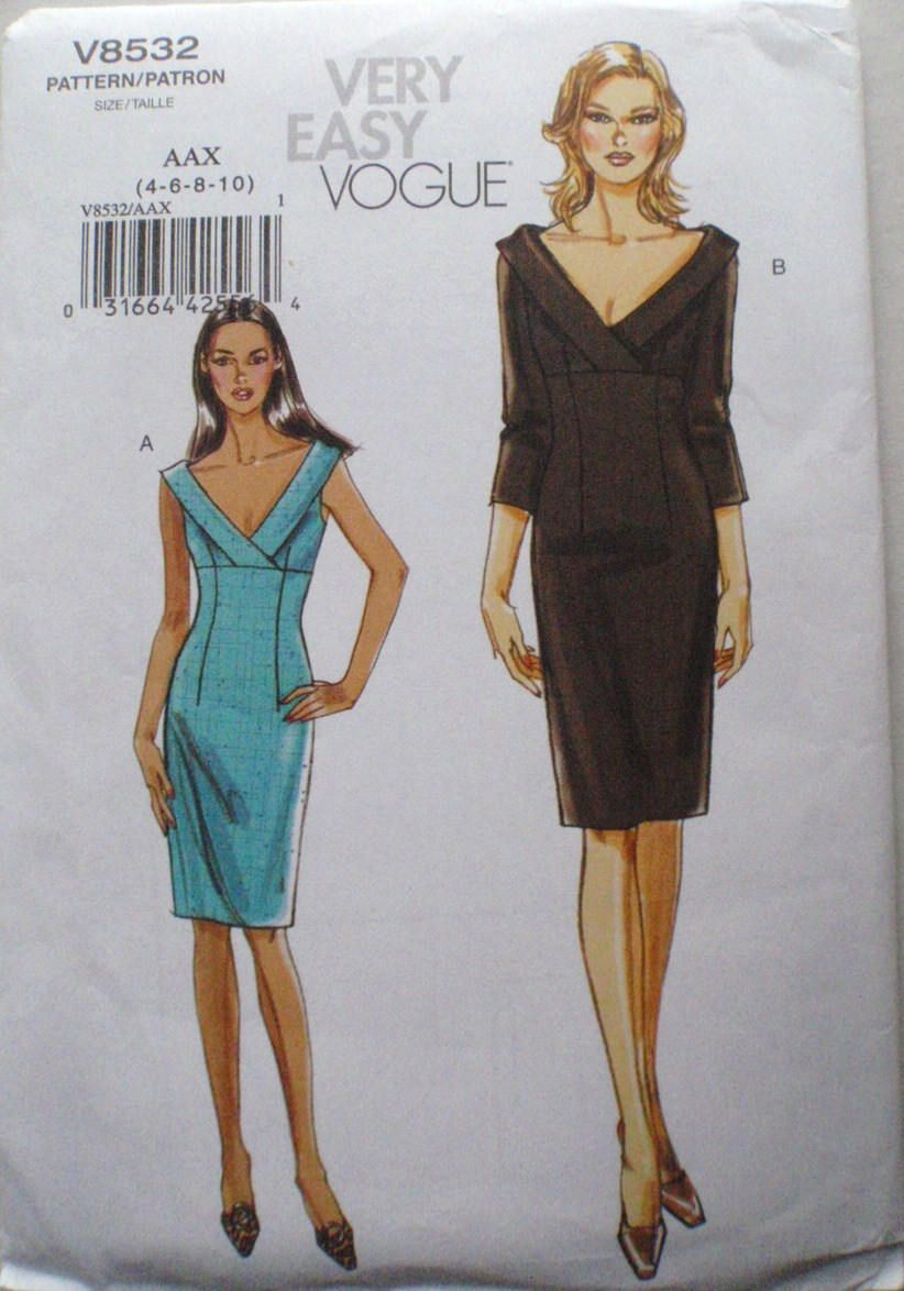 Very Easy Vogue Sewing Pattern Empire Waist Dress Vogue 8532