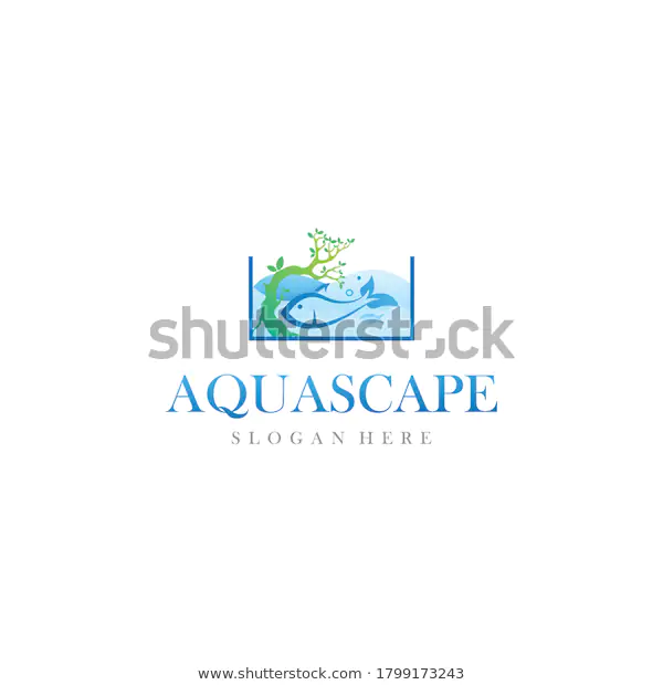 Aquascape Aquarium Paludarium Logo Design Vector Stock Vector Royalty Free 1799173243 Logo Design Logo Inspiration Aquascape Aquarium