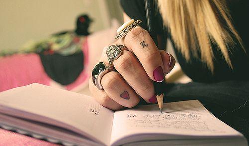 #tattoo #heart #fingers #write #rings