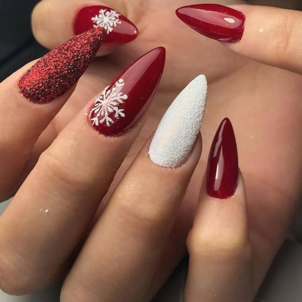 Can You Get Hiv From A Manicure Weihnachtsnagel Manicures Red Accent Nails Winter Manicures E Pedicure Manicures Yell In 2020 Nail Art Designs Images Korean Nail Art Simple Nail Art Designs