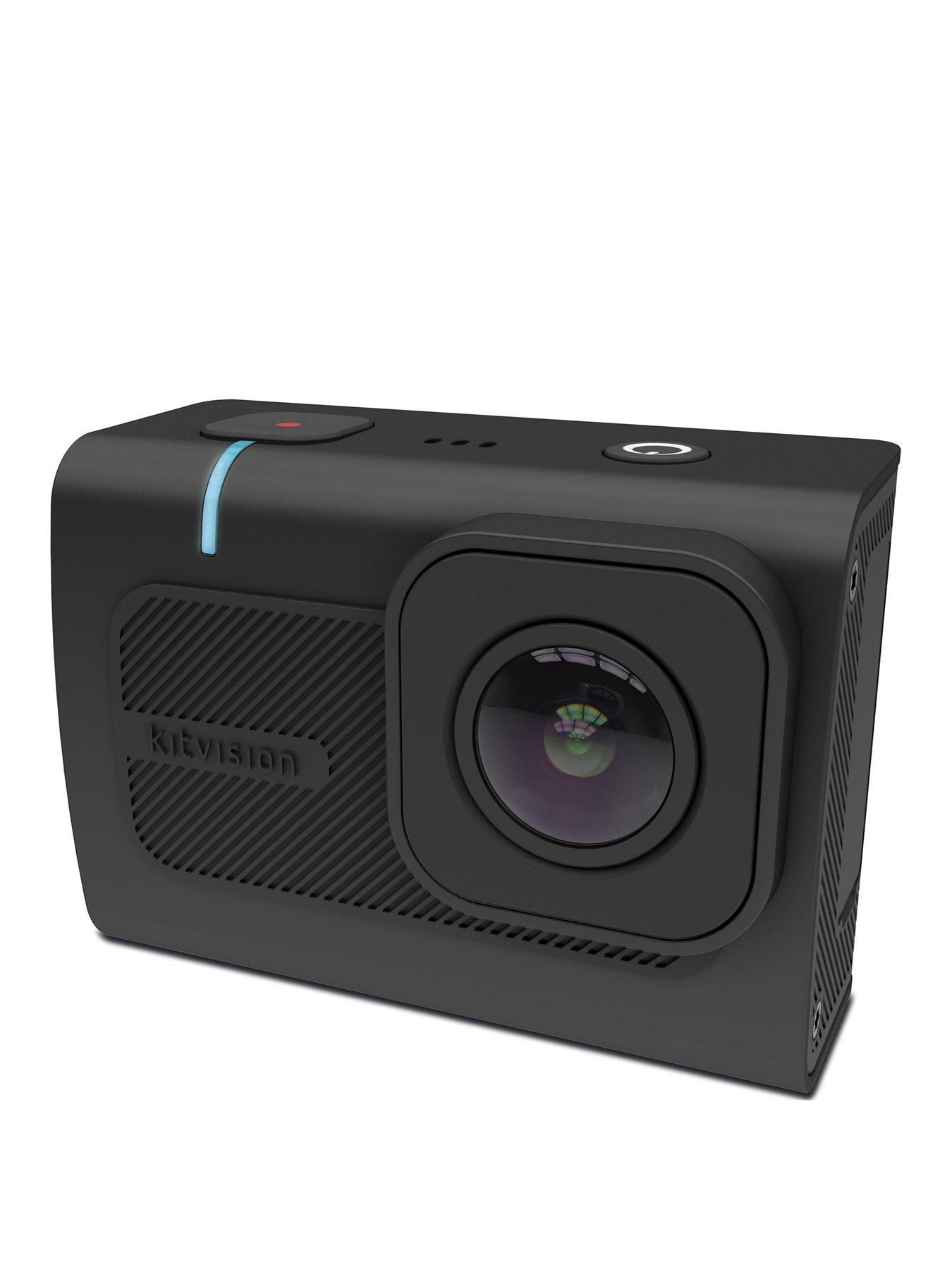 Kitvision Kitvision Venture 4K Resolution 16 Megapixel Ultra-Wide Angle Action Camera With Wifi Connectivity And 1.8 Inch Touch Screen Lcd - Black #wideangle