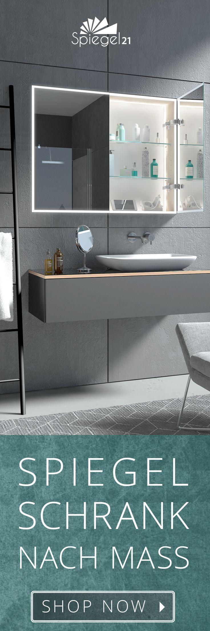 Bad Spiegelschrank Frankfurt Nach Mass Auch Unterputz Einbau Zimmereinrichtung Badezimmerspiegel Spiegelschrank Badezimmer Schrank
