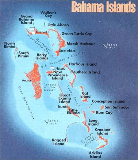 map of the bahamas out islands Interactive Map Of The Bahamas With Photos Web Addresses map of the bahamas out islands