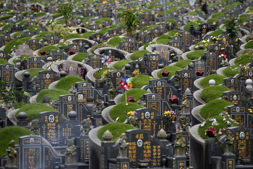 Flowers And Various Offerings Near Graves At A Chinese Cemetery During Qingming Festival In Singapore Ap Cemeteries Old Cemeteries Cemetery