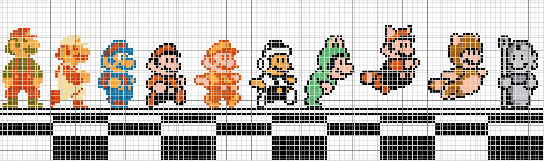 Super Mario World Pixel Grid