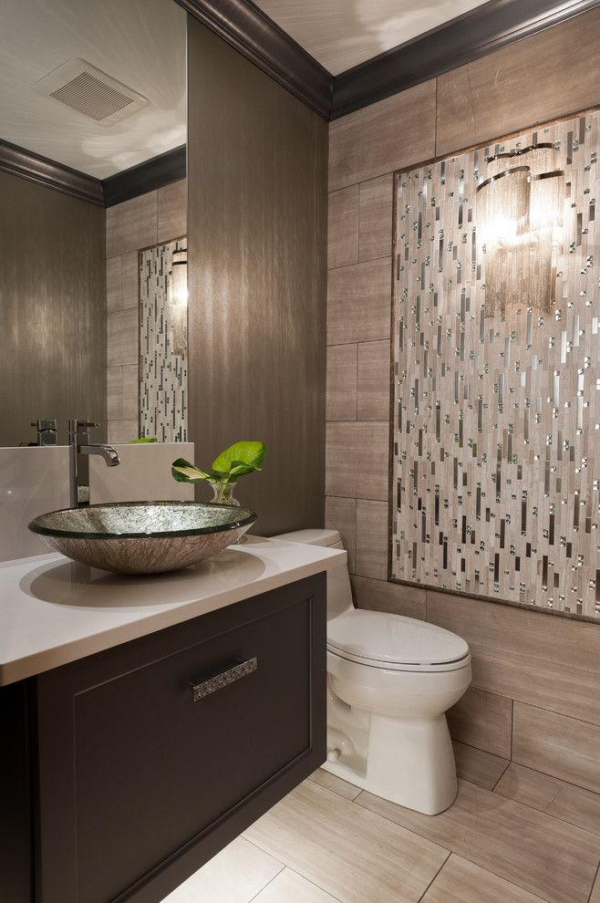 Noland company contemporary powder room colour schemes st - Powder room tile ideas ...