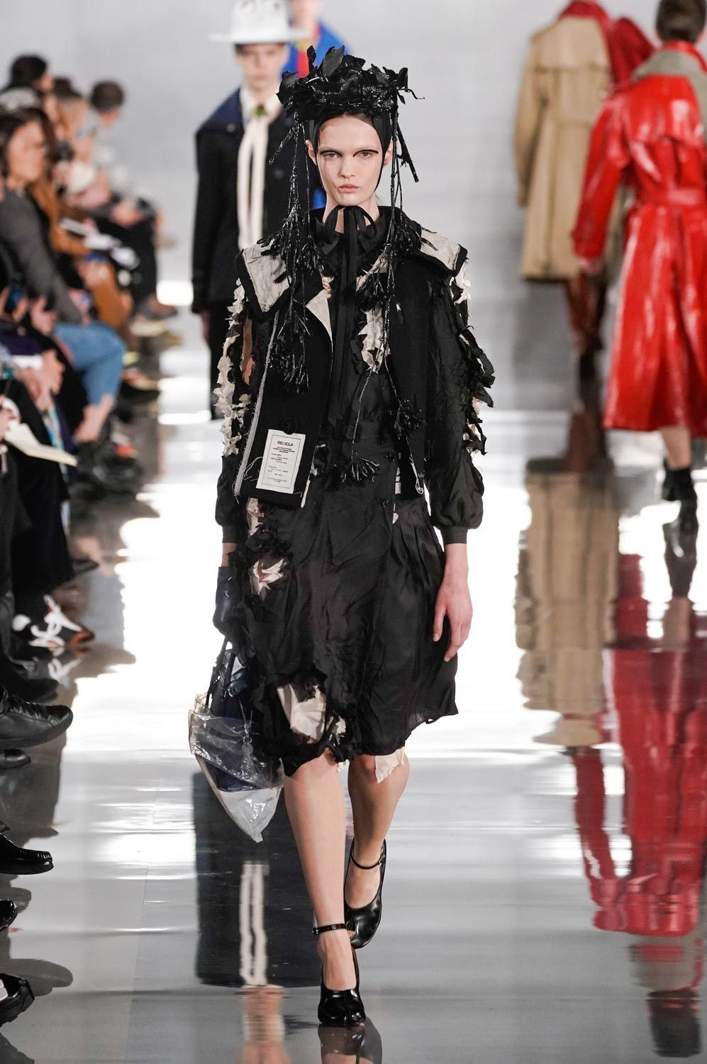Paris Fashion Week Fw 2020 Maison Margiela Black Embellished Dress Clothia In 2020 Fashion Emerging Designers Fashion Paris Fashion Week