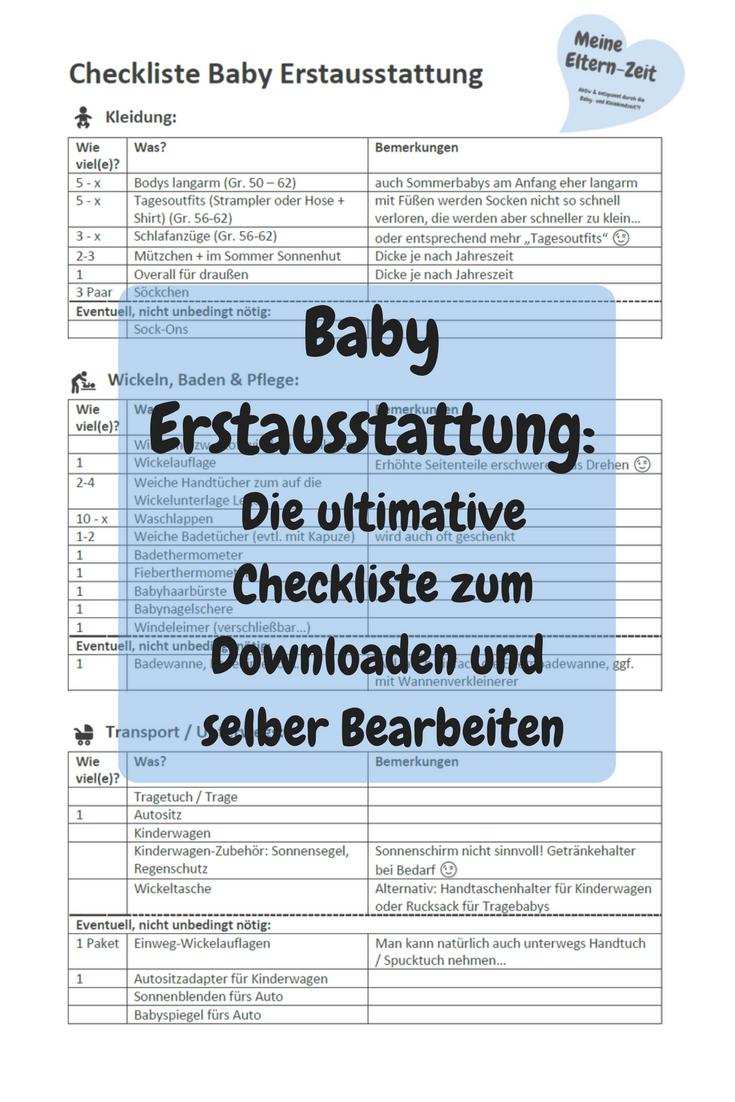 Mein Muss für das Baby: Die 10 wichtigsten Einkäufe für die Babyausstattung mit Checkliste   – Meine Eltern-Zeit: Aktuelle Blogposts