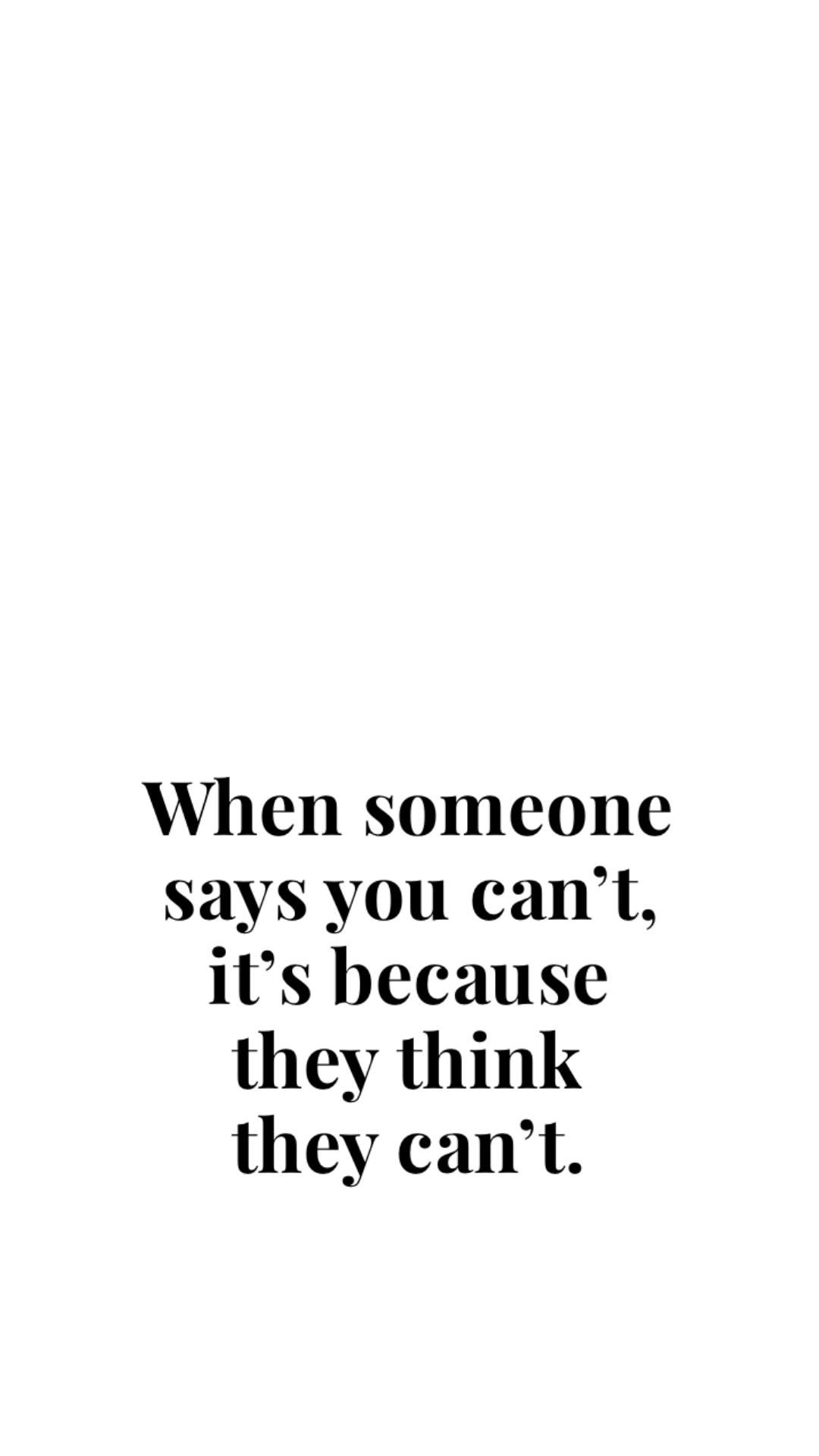 Remember. You do you.