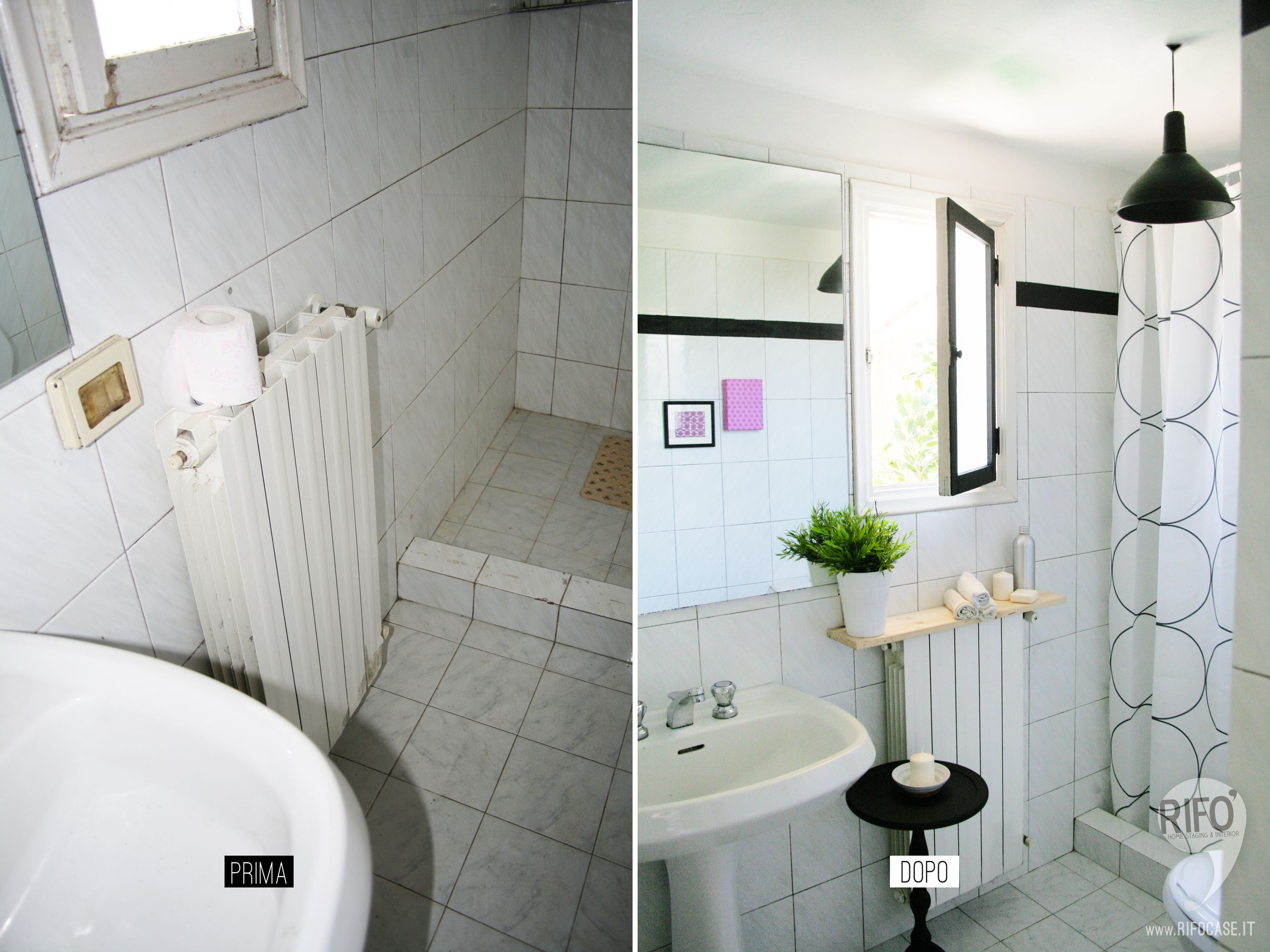 Restyling relooking bagno prima e dopo bathroom makeover - Home staging bagno ...