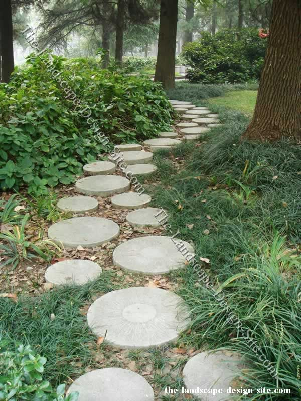 Walkways Round Pavers Stone Garden Paths Woodland Garden