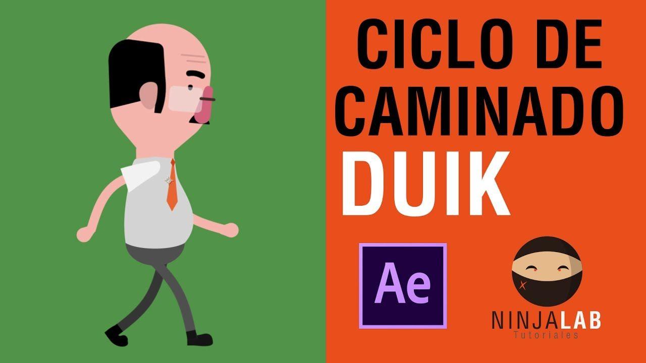 Ciclo De Caminado Personaje Con Duik After Effects Personajes Animacion Personajes Tutoriales