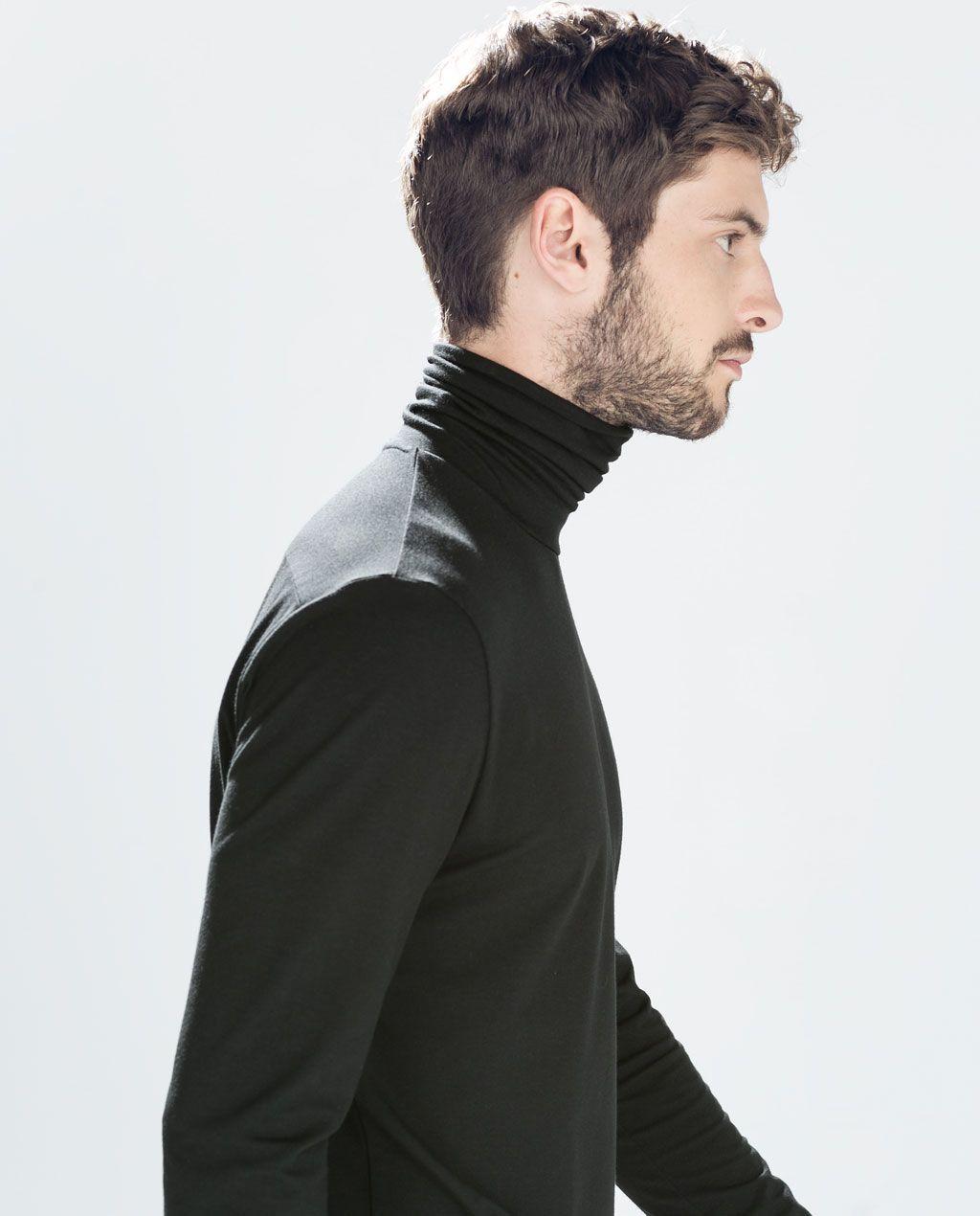 c3a3c952 ZARA - MAN - TURTLENECK T-SHIRT | Man fashion | Turtleneck t shirt ...