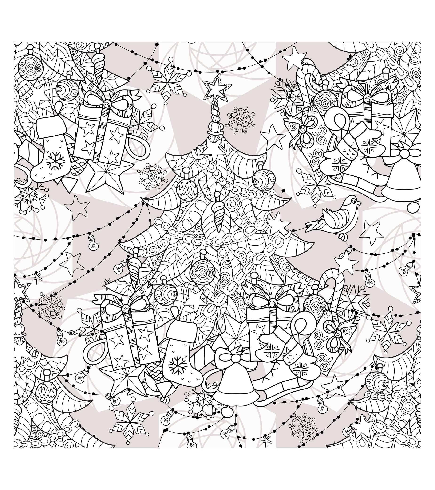 Coloring Zentangle Christmas Tree By Irina Yazeva From The Gallery Events Christmas Tree Coloring Page Christmas Tree Coloring Page Christmas Coloring Pages [ 2086 x 1850 Pixel ]