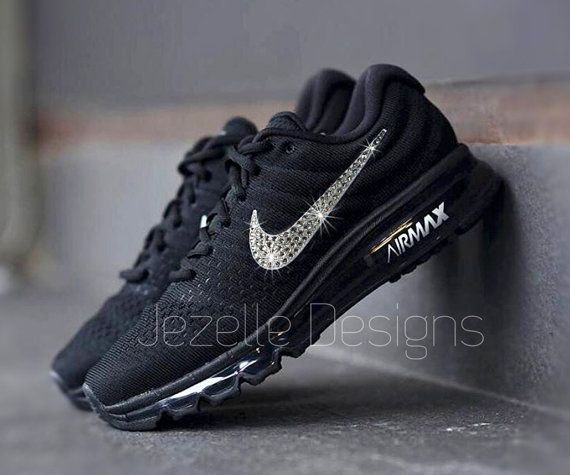 Swarovski Nike Bling Air Max 2017 Black Customized With