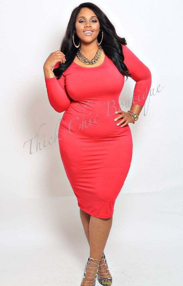 Curvy girl in bodycon dress are suitable for