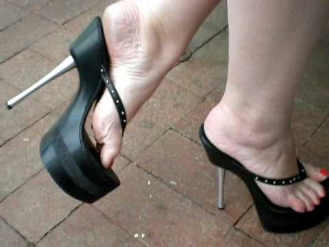 6f192251f4a sexy feet in platform 7 inch high heel flip flops