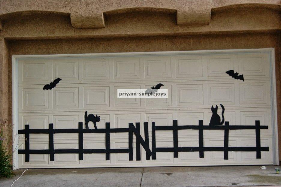 Decorating Awesome Halloween Door Decorations Design Ideas - halloween garage ideas