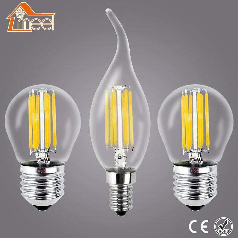 Meel Retro Led Bulb E27 E14 Led Lamp 220v 240v Led Filament Light 2w 4w 6w 8w Glass Ball Bombillas Led Edison Bul Led Bulb Edison Light Bulbs Filament Lighting