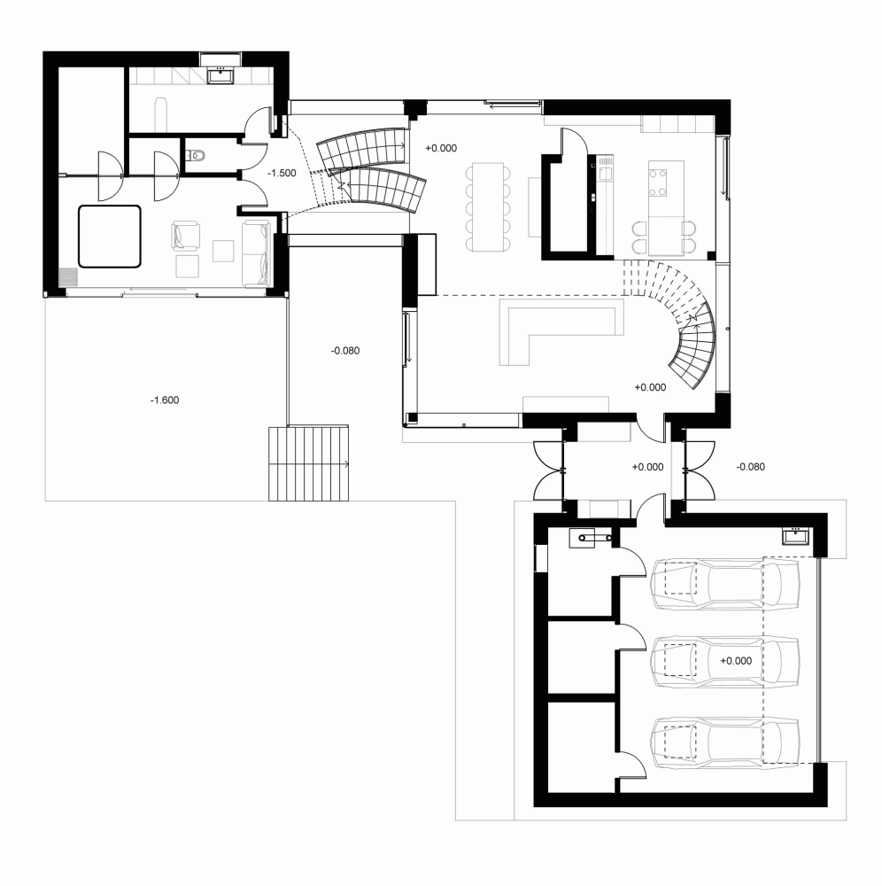 Gallery Of Parallelepiped Rectangle House Devyni Architektai 22 House Floor Plans Rectangle