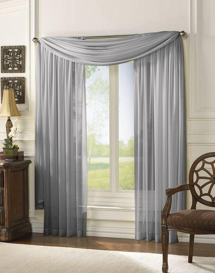 Exceptional Sheer Scarf Valance Window Treatments Part - 10: Infinity Sheer Window Scarf Valance
