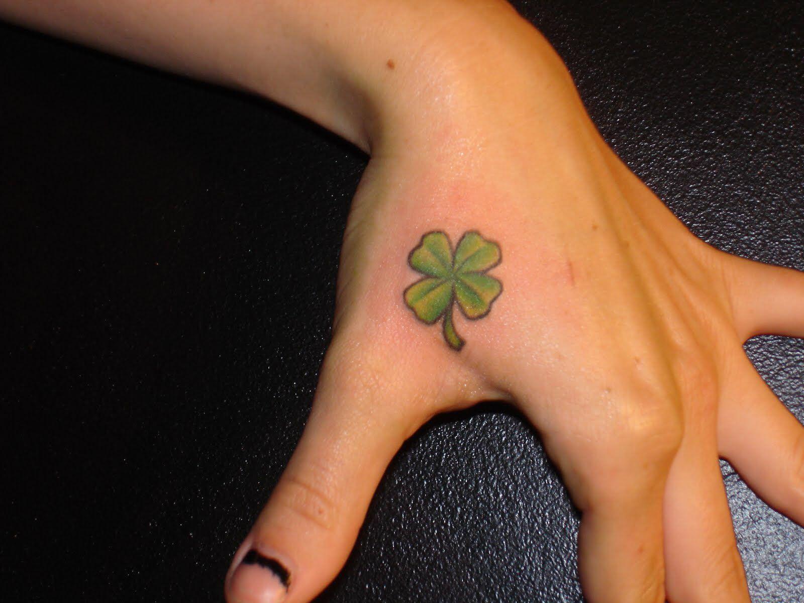 0713e9f49081e Small Four Leaf Clover Tattoo | Quotes | Shamrock tattoos, Clover ...