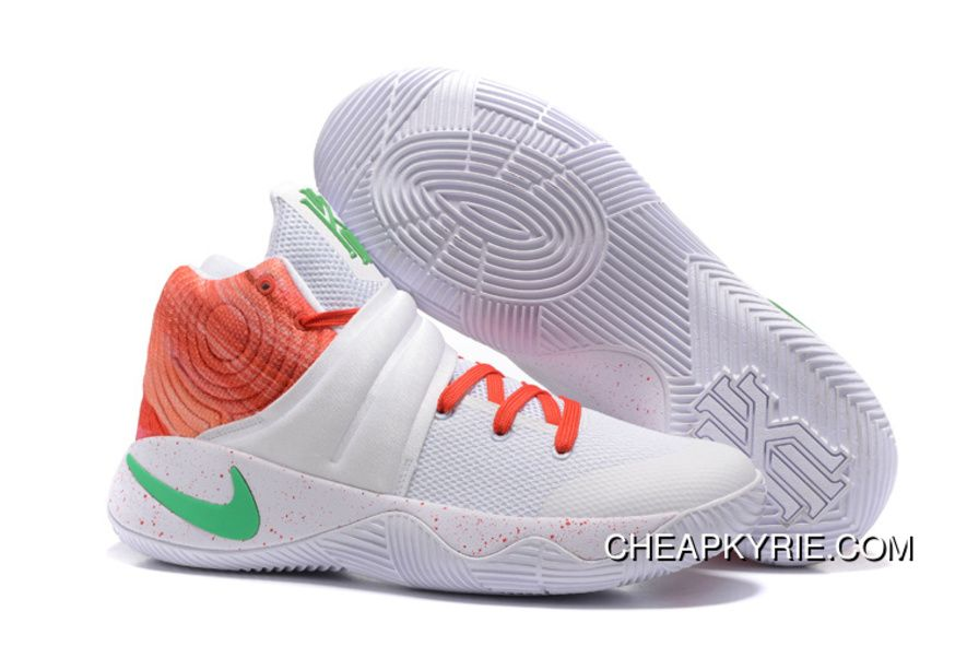 nike kyrie 2 white orange green mens basketball shoes copuon code price 87.65 cheap kyrie shoes onli