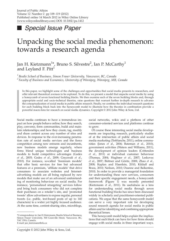 Unpacking The Social Media Phenomenon Towards A Research Agenda Thoughts On Education Social Media Phenomena