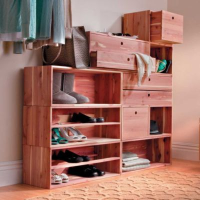 Superior Cedar Fresh Stackable Closet Storage System   Storage Ideas For Closets